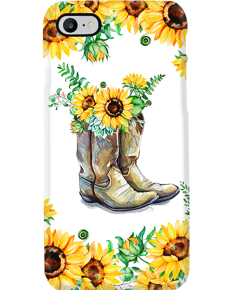 Farmer Sunflower Boots Phone Case