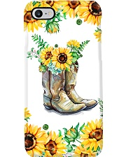 Farmer Sunflower Boots Phone Case i-phone-7-case