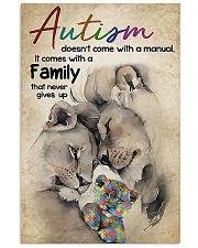 Autism comes with a family that never gives up 11x17 Poster front