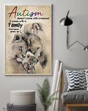Autism comes with a family that never gives up 11x17 Poster lifestyle-poster-1