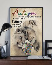 Autism comes with a family that never gives up 11x17 Poster lifestyle-poster-2