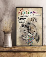 Autism comes with a family that never gives up 11x17 Poster lifestyle-poster-3