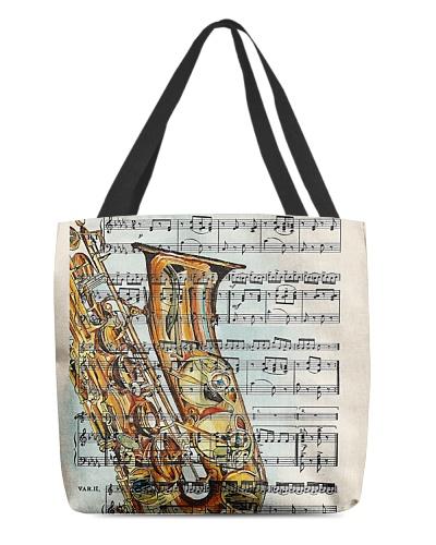 Saxophone and music sheet