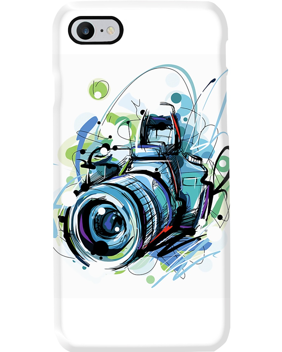 Blue Art Camera Photographer Phone Case