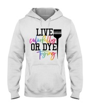 Hairstylist live colorfully or dye trying Hooded Sweatshirt thumbnail