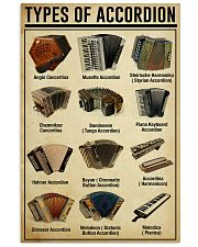 Accordionist Types of Accordion 11x17 Poster front
