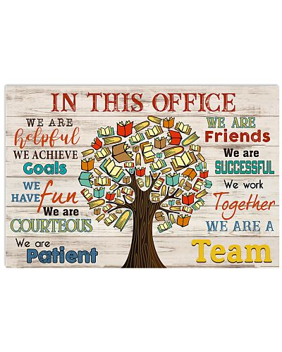 Librarian We are a team Poster