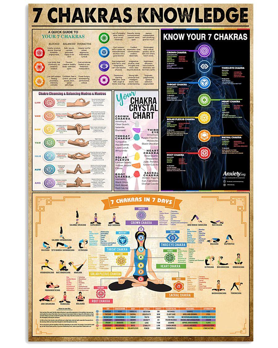 Yoga 7 Chakras Knowledge 11x17 Poster