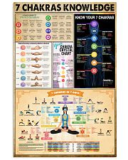 Yoga 7 Chakras Knowledge 11x17 Poster front