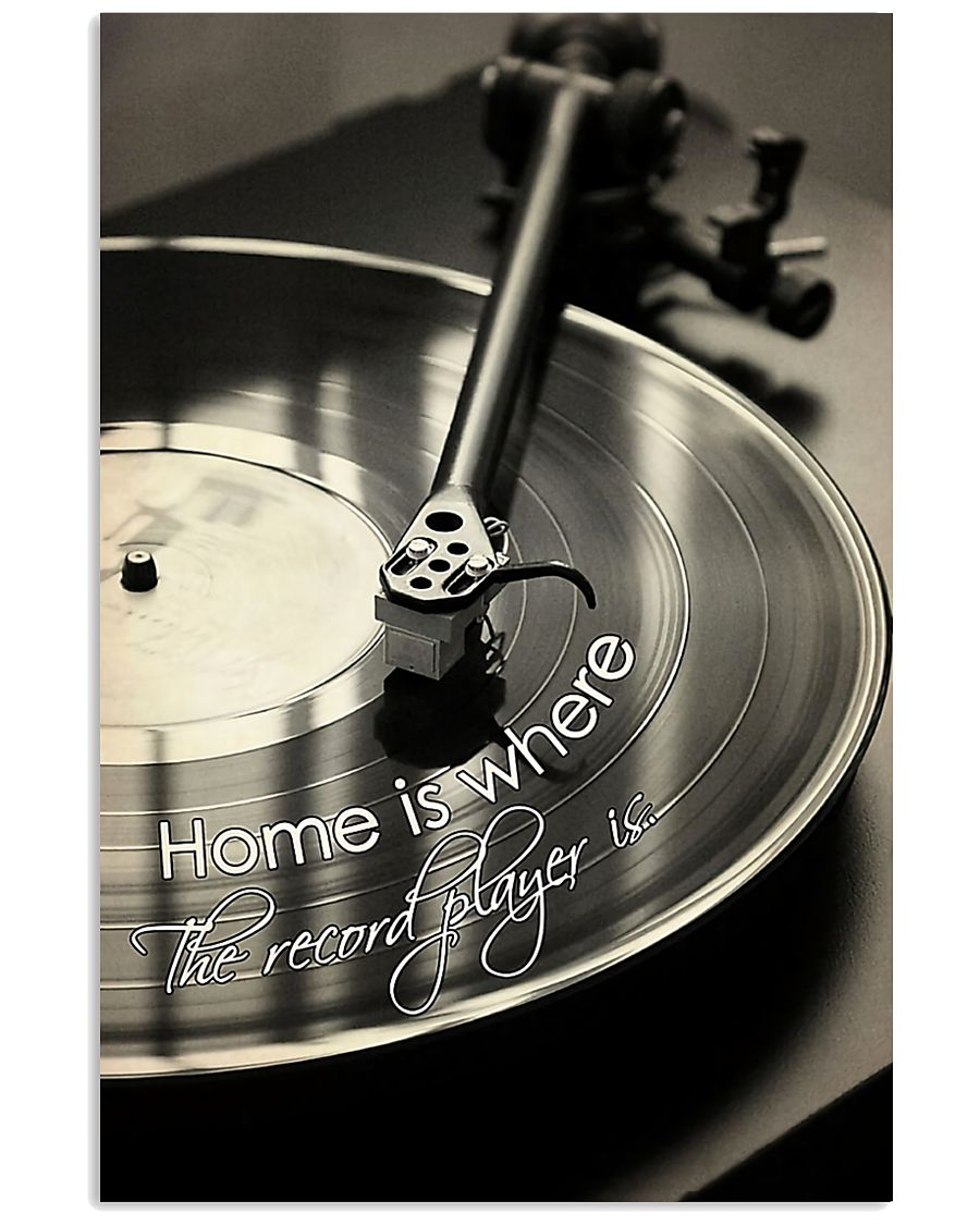 DJ Home is where the record player is 11x17 Poster