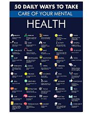 50 Daily Ways To Take Care Of Your Mental Health 11x17 Poster front