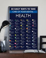 50 Daily Ways To Take Care Of Your Mental Health 11x17 Poster lifestyle-poster-2