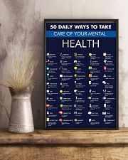 50 Daily Ways To Take Care Of Your Mental Health 11x17 Poster lifestyle-poster-3