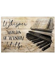 Piano Words Of Wisdom 17x11 Poster front