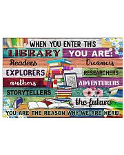 Librarian When You Enter This Library 17x11 Poster front