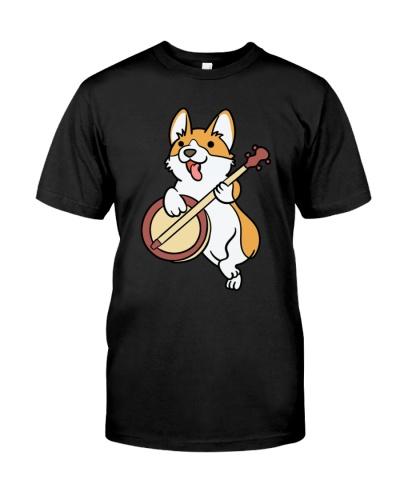 Corgi With Banjo