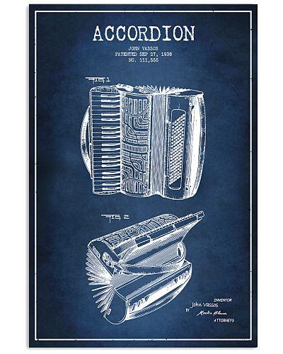 Accordionist Pattern Poster
