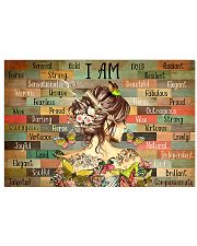 Hairdresser I Am Strong 17x11 Poster front