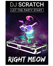DJ scratch let the party start right meow 11x17 Poster front