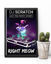 DJ scratch let the party start right meow 11x17 Poster lifestyle-poster-8