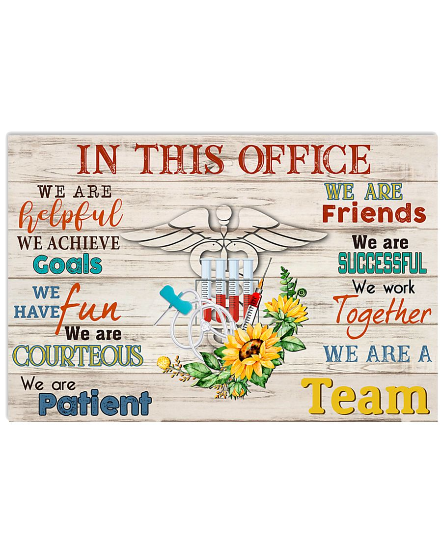 Phlebotomist We Are A Team 17x11 Poster