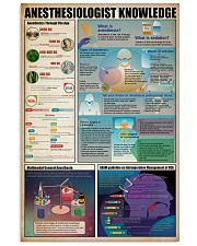 Surgical Tech Anesthesiologist Knowledge 11x17 Poster front