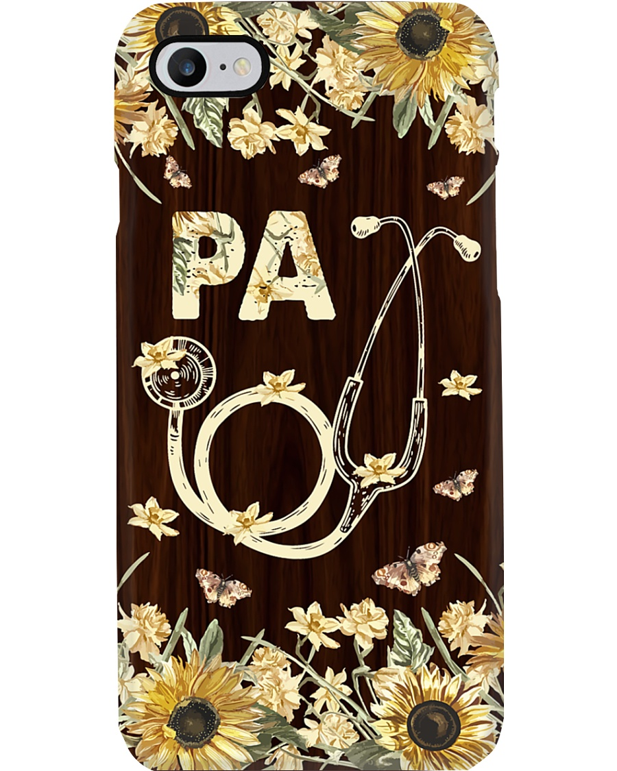 Physician Assistant Wood Flowery Phone Case