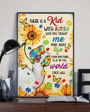Autism awareness There is a kid 11x17 Poster lifestyle-poster-2