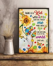 Autism awareness There is a kid 11x17 Poster lifestyle-poster-3