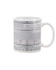 Silver Camera Lens Photographer Mug front