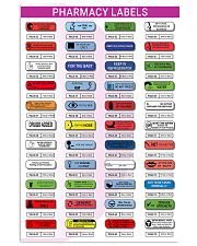 Pharmacy Labels 11x17 Poster front