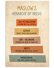 Social Worker Maslow's Hierarchy Of Needs 11x17 Poster front