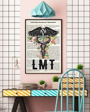 Massage Therapist LMT Flower  24x36 Poster lifestyle-poster-6