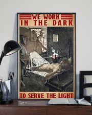 Radiologist We Work In The Dark To Serve The Light 11x17 Poster lifestyle-poster-2