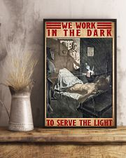 Radiologist We Work In The Dark To Serve The Light 11x17 Poster lifestyle-poster-3