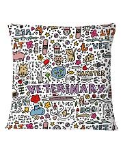 Veterinary Hamster Vet Cat Dog Square Pillowcase thumbnail