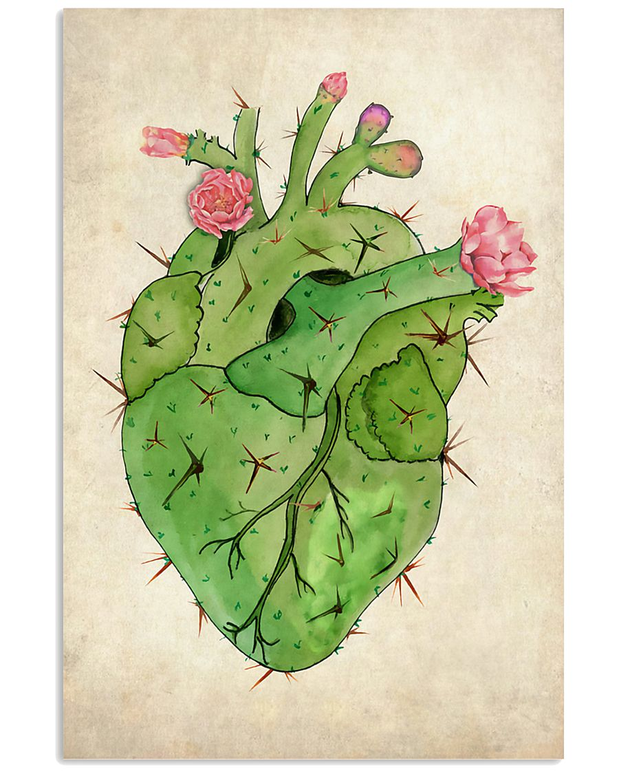 Cardiologist Cacti Heart 11x17 Poster