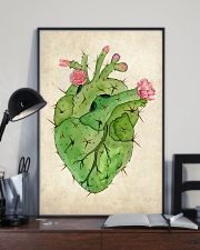 Cardiologist Cacti Heart 11x17 Poster lifestyle-poster-2