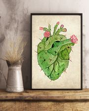 Cardiologist Cacti Heart 11x17 Poster lifestyle-poster-3