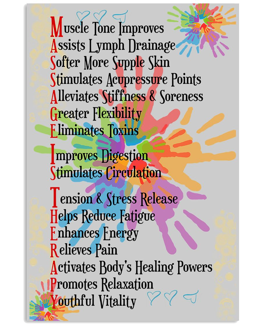 Massage Therapist 5 Hands 11x17 Poster