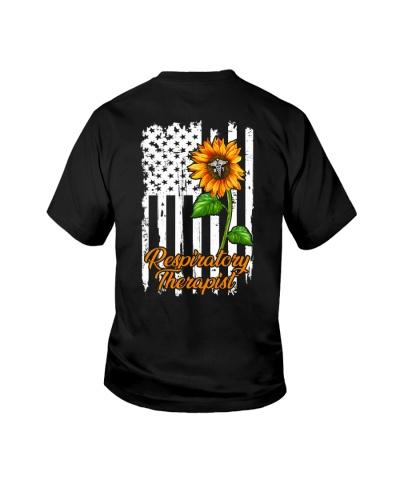Respiratory Therapist Sunflower American Flag