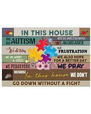 Autism Awareness We do autism 17x11 Poster front