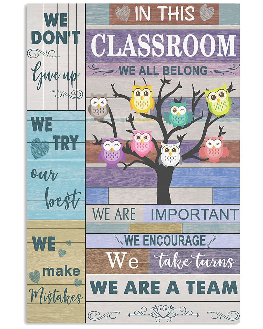 Teacher We Don't Give Up   11x17 Poster