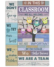 Teacher We Don't Give Up   11x17 Poster front