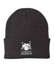 Drummer I destroy silence Knit Beanie thumbnail