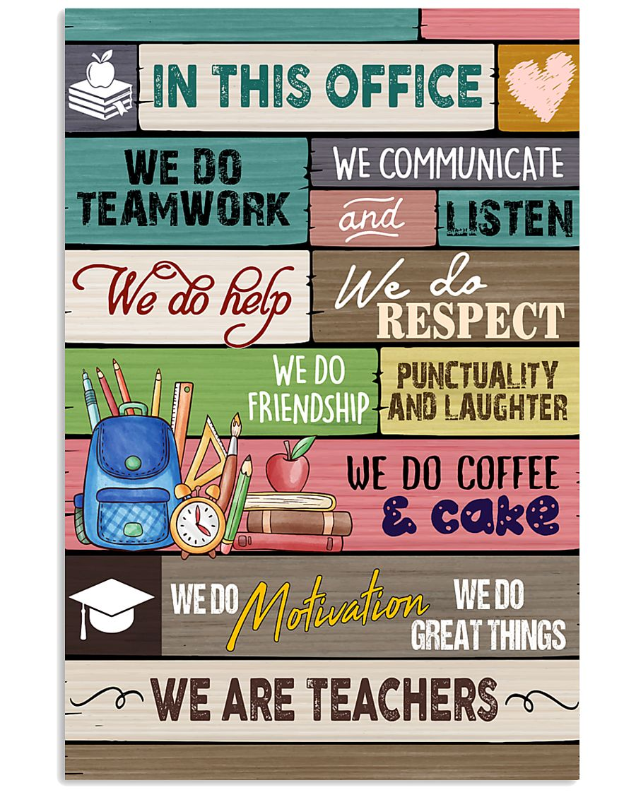 In This Office We Are Teachers 11x17 Poster
