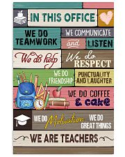 In This Office We Are Teachers 11x17 Poster front