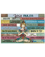 Yoga rules  17x11 Poster front