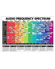 DJ Audio Frequency Spectrum 17x11 Poster front