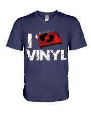 DJ vinyl V-Neck T-Shirt thumbnail
